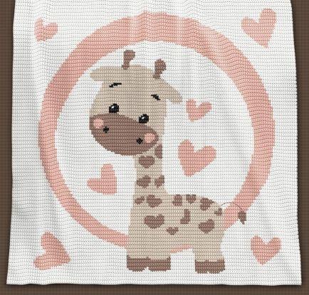 Crochet Pattern | Baby Blanket / Afghan - Giraffe