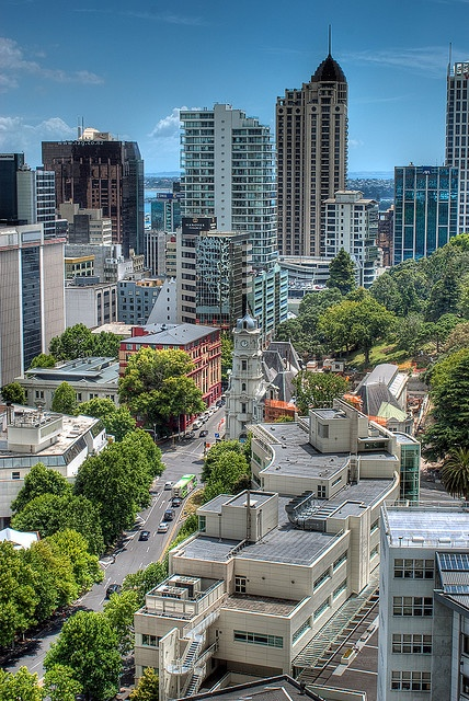 Auckland Downtown, New Zealand, 1/3 (about 1,5 milj.) of all the people in New Zealand live here!