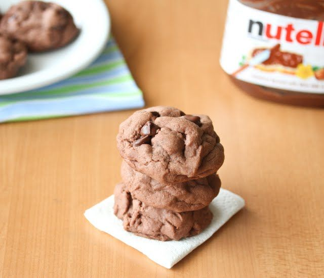 Soft Nutella Chocolate Cookies | Kirbie's Cravings | A San Diego food blog