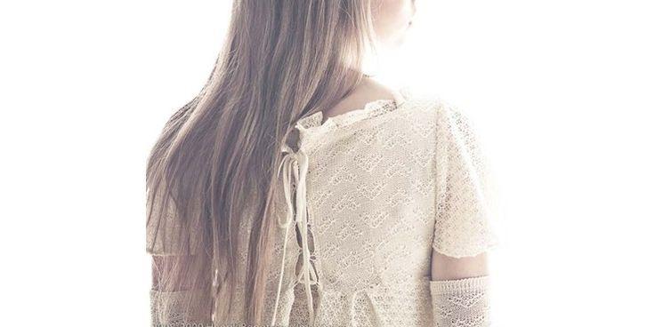 Long-backed dress in organic cotton by Leluma Design