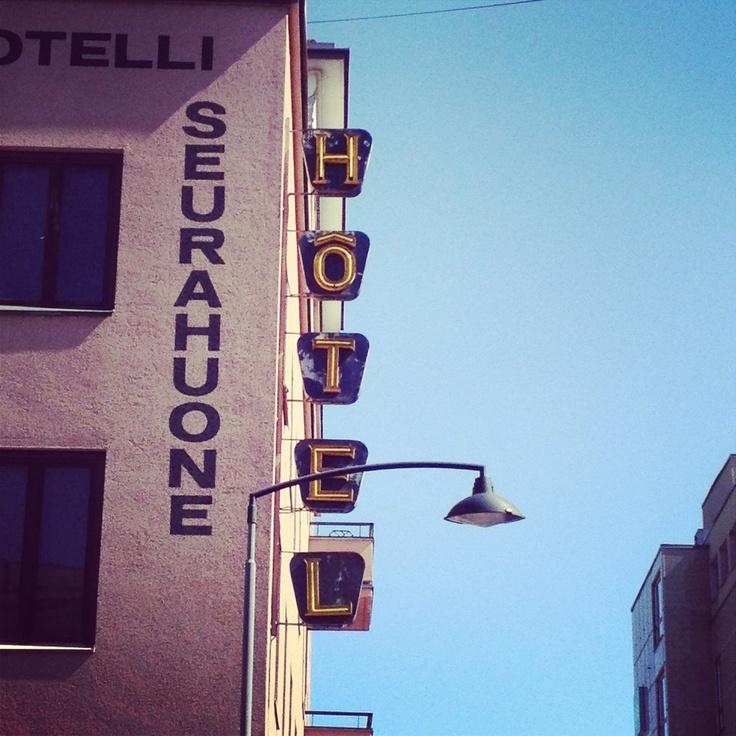 Old hotel vintage sign