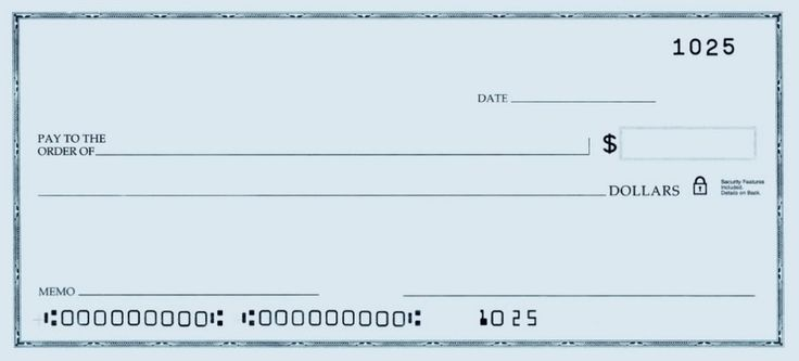 Template of a blank check printable personal blank check for Oversized check template
