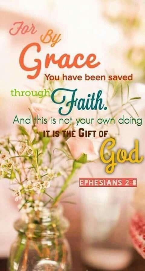 Want door genade zijt gij behouden , door het geloof , en dat niet uit u zelf : het is een gave van God ; niet uit werken , opdat niemand roeme . Want Zijn maaksel zijn wij in Christus geschapen ...