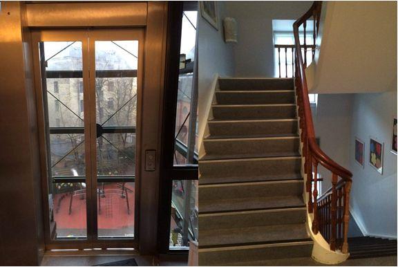 Trappe vs. elevator