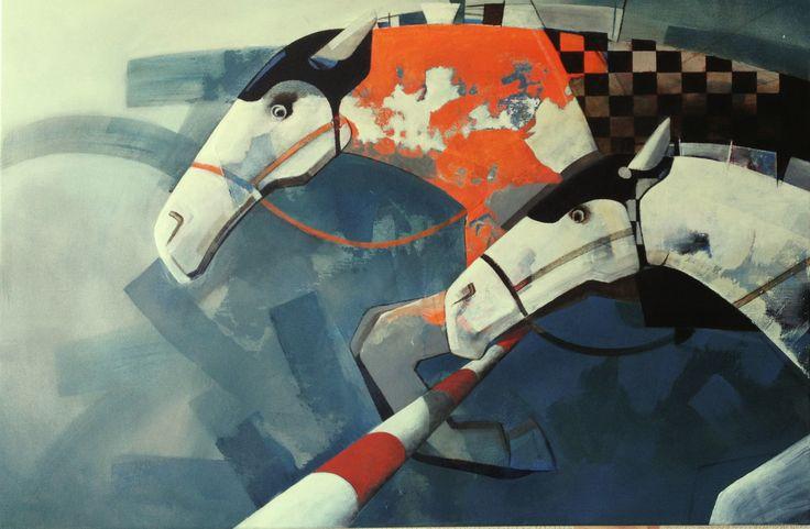 The white rival, painting, acrylic on canvas || Biały rywal, obraz, akryl na płótnie