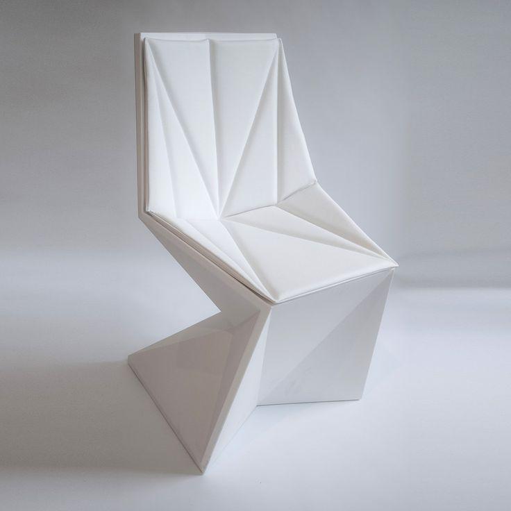 Vertex Chair #furniture #design #chair #chaise #mobilier #white #blanc #interiordesign