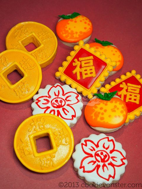 Mini Chinese New year custom cookies | Flickr - Photo Sharing!