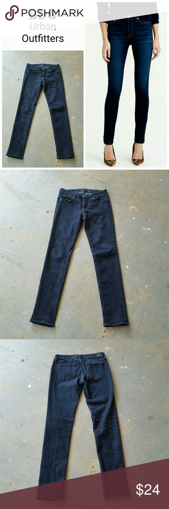 """BDG URBAN OUTFITTERS SKINNY STRETCH DARK JEANS BDG URBAN OUTFITTERS skinny stretch dark wash jeans.  98% cotton.  2% spandex.  Made in USA. 29"""" waist.  8.5"""" rise.  33"""" inseam.  6"""" across ankle. Excellent condition! BDG Jeans Skinny"""