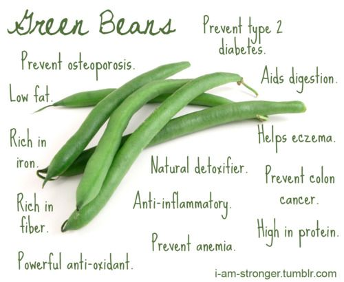 Green Beans (Because they're low calories and filling, they're a dieters best friend!)