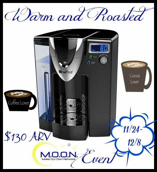 "Prize: iCoffee Opus Single Serve Brewer ARV $130 Each   Hosted by: A Lucky Ladybug and  ""The SpinBrew™ Technology in every iCoffee® single serve brewer spins, steams and stirs right inside any K-compatible cup to brew coffee that always tastes Impossibly Smooth™. Dial-a-Brew™ – From 4 to 12 ounces in ½ ounce increments Large 75 …"