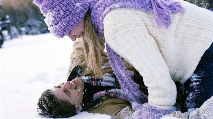 Para, Zima, Śnieg, Miłość, Zabawa