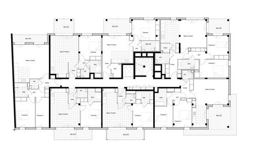 Housing and Shops Complex,Floor Plan