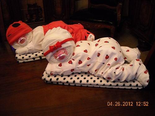 Sleeping Diaper baby gift -- cute!