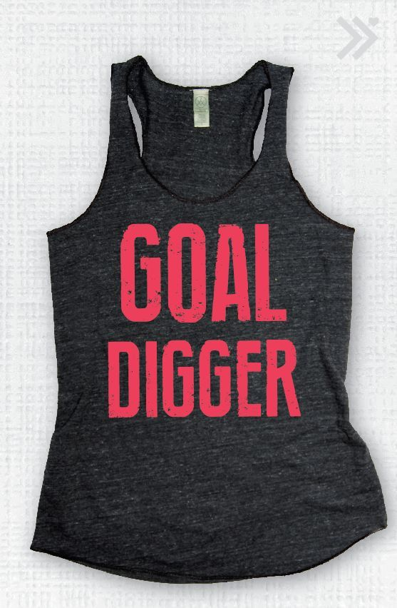 Charcoal/N.Pink Goal Digger  Eco Tank by everfitte on Etsy, $26.00