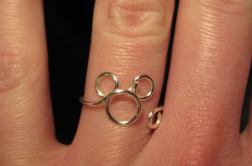 Simply Elegant Wire Wrapped Mickey Mouse Ring
