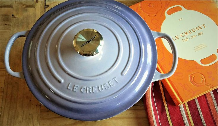 le creuset cookbook and cookware