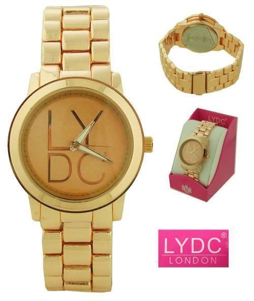 LYDC London Ladies Analogue Watch - Gold