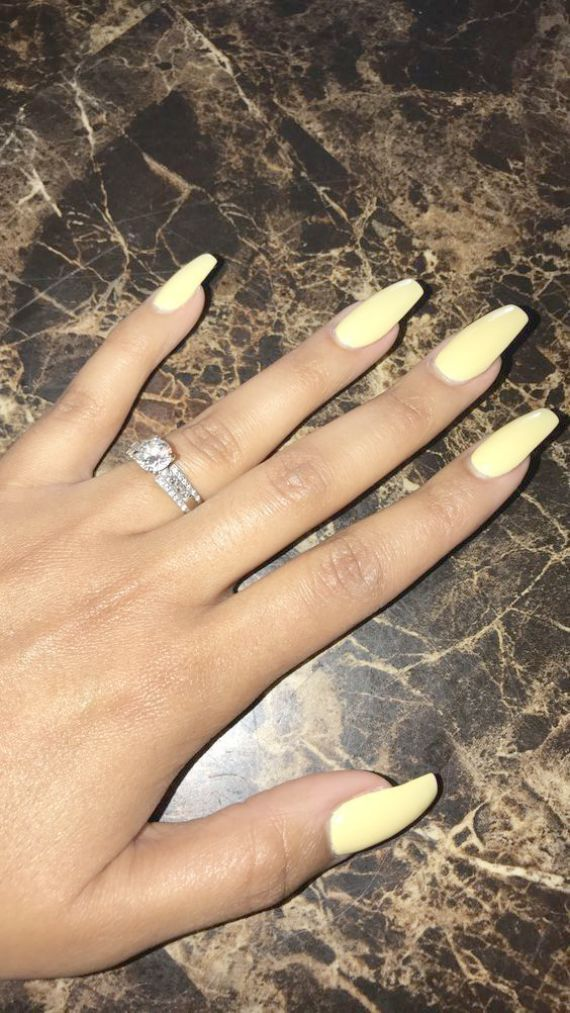 Home Blend Of Bites Yellow Nails Design Yellow Nails Coffin Nails Long