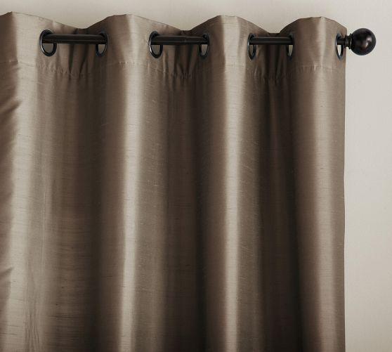 Dupioni Silk Grommet Drape