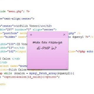 Sini aku PHP'in...  #php #mysql #javascript #css #syntax #programmerjomblo #programmerhumor #programmerlife