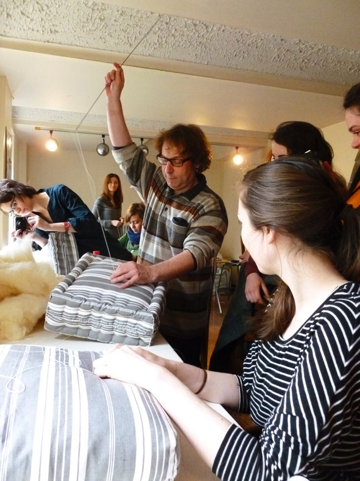 Our experience making mattresses Day 4 of the Master Class leads us down the road of a traditional technique of Wool Mattress making. The C...