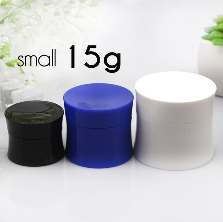 50 pcs (15g) Plastic Jar, Pot, Bottle with Lid & Disc Liner - Skincare Face Cream, SPA Bath, Food Packaging
