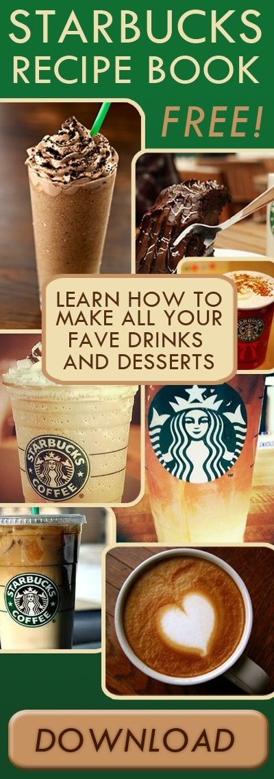 YES. Starbucks recipe book. This is awesome, and totally legit. :D | Divine Pins
