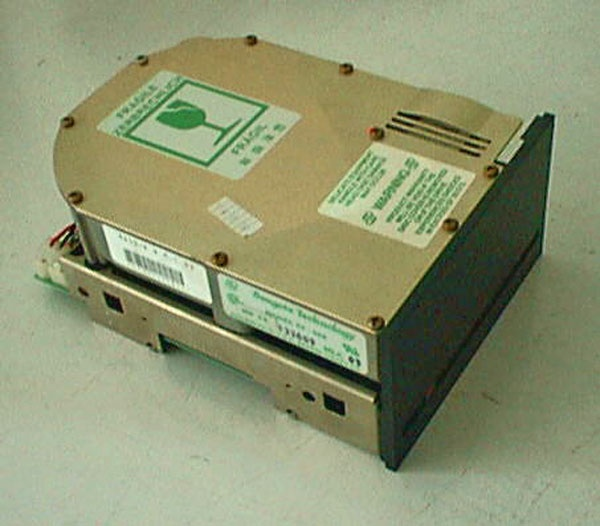 Seagate Technology (1980) created the first hard disk drive for microcomputers, the ST506. The disk held 5 megabytes of data, five times as much as a standard floppy disk, and fit in the space of a floppy disk drive.