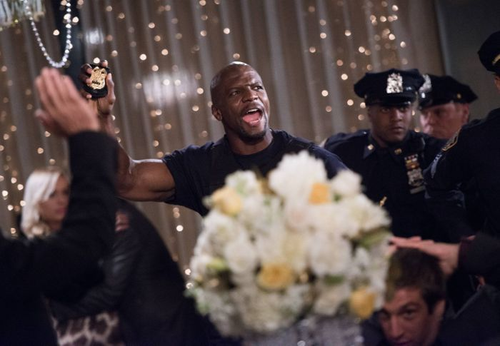 "Sgt. Terry Jeffords plays a game of ""wedding crasher ~ Season 2, Episode 1: Undercover ~ Episode Pics #amusementphile"