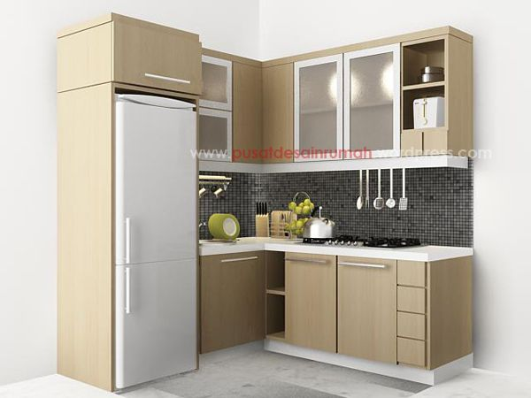 tiny L shape kitchen
