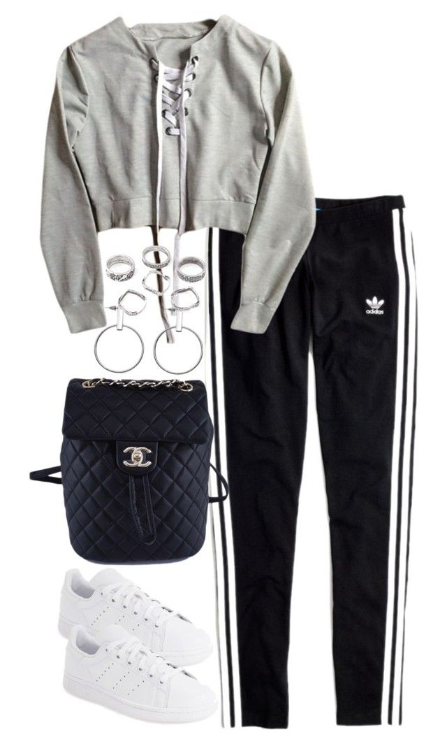"""""""Untitled #4612"""" by theeuropeancloset ❤ liked on Polyvore featuring Madewell, adidas and Chanel"""