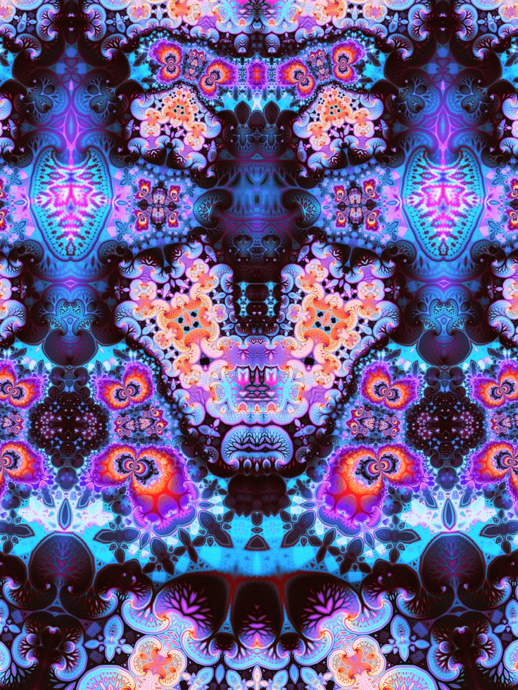 A Kaleidoscope Of Uncompromising Design Ideas By Gestalten: Trippy Rainbow Fractal Art. #fractals #art #kaleidoscope