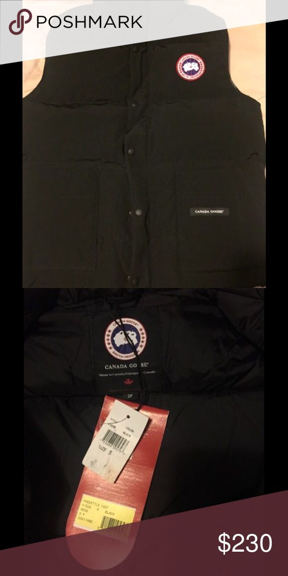 Canada Goose Puffer Vest Brand New Size Small Up for sale is a 100% authentic Canada Goose puffer vest. Size small in black for men. Purchased directly from Neiman Marcus. Never worn. Comes with tags!!! Please comment with any questions. The Retail price on this is $350 and I'm selling below. This is perfect for the winter and the perfect GIFT!! Will ship out ASAP! Canada Goose is in HIGH demand right now and you will NOT find a brand new puffer vest at this price! Canada Goose Jackets…