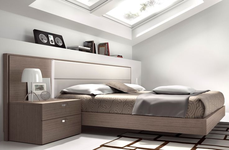 Guardia - NORMA Modern Bed in Veneer and Lacquer Matt / High Gloss - Head2Bed UK