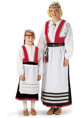 Finnish national costume   Pyhäjärvi