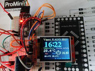 alarm clock arduino ILI9225