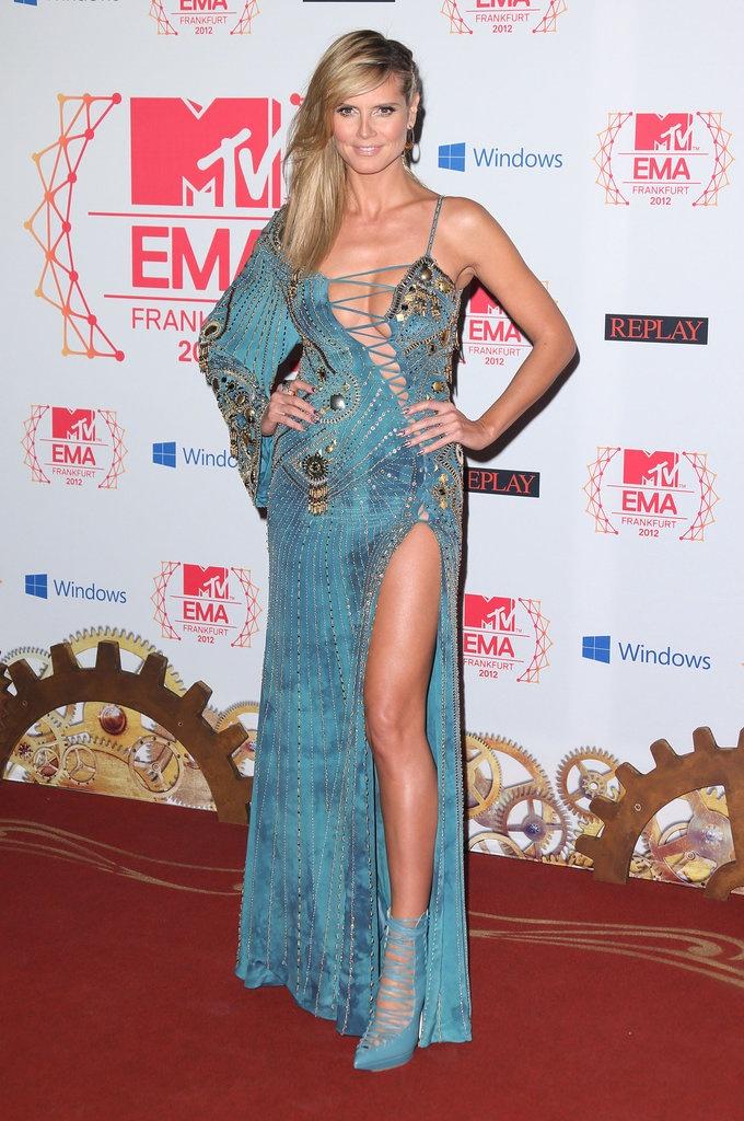 Heidi Klum at the MTV EMAs 2012 #redcarpet