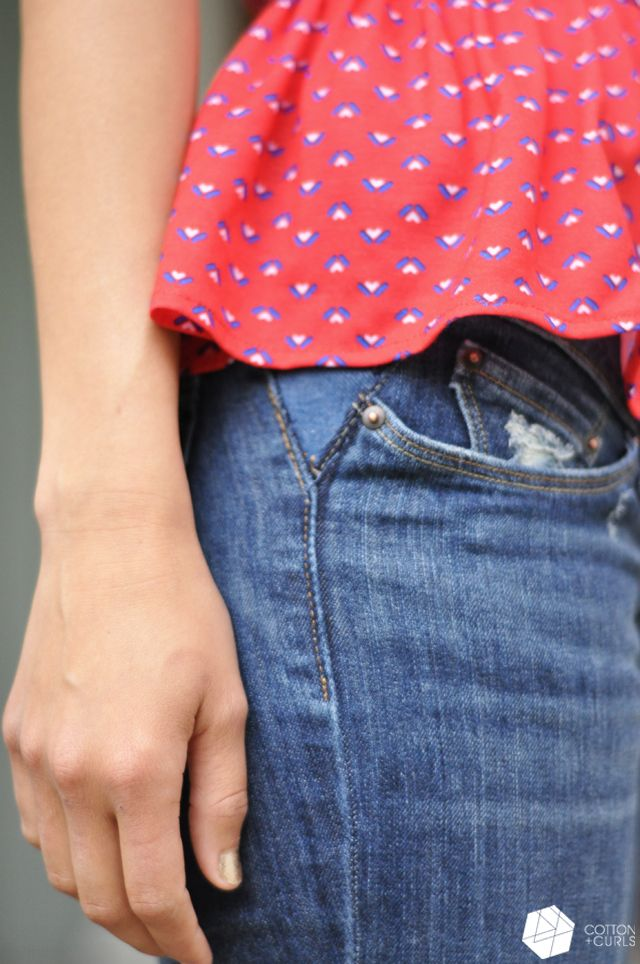 C&C: Take out your jean's waistband tutorial...aka make your pants bigger!