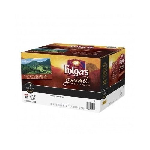 #FolgersCoffee #GourmetSelections #KCups #80Ct #Colombian #MediumRoast #Keurig NEW #Folgers