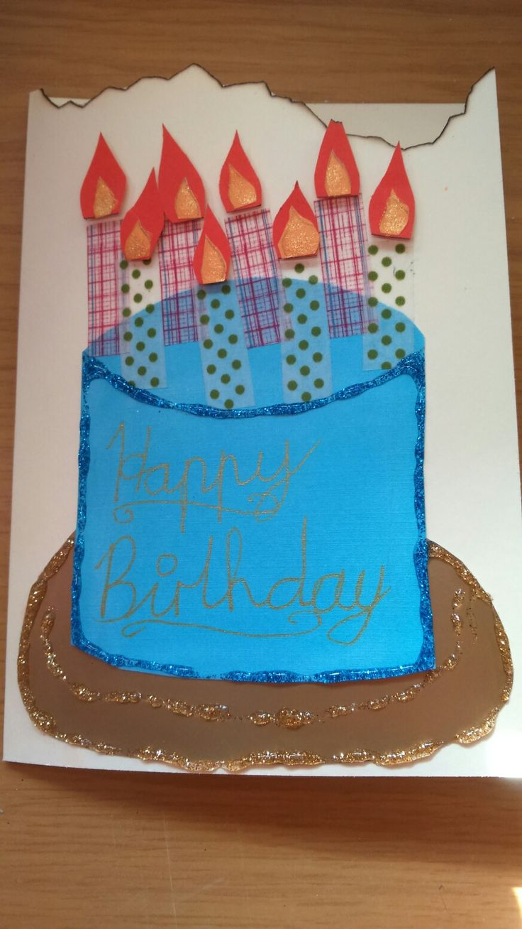 Burning Candles birthday card