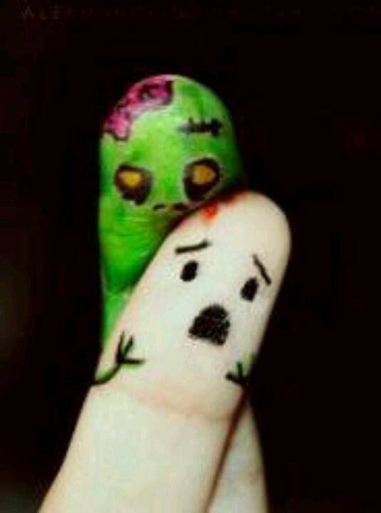 Cute little zombie fangers