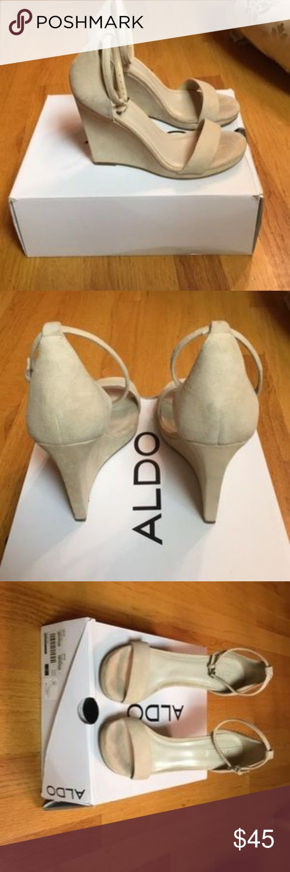 Aldo Cream Wedges Cream wedges only worn once for a wedding I was in. Great shape! ALDO Shoes Wedges