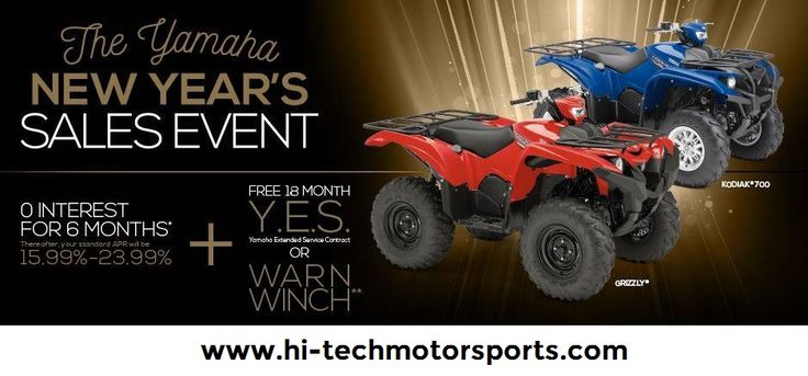"Yamaha's ""NEW YEAR'S SALES EVENT"" Kicks Off New Year with Great Incentives to Purchase of new 2014-2017 Yamaha Motorcycles, Scooters, ATVs & Side-by-Sides.  For further details, Visit: http://www.hi-techmotorsports.com/Showroom/Promotions/Promotion-Details/PromotionId/1e7283dc-35e4-4042-b07d-a6f1010e0689  #NewYearSalesEvent #SalesEvent #Yamaha #YamahaSalesEvent #Motorcycles #Scooters #ATV #BestOffers #BestDeals #HiTechMotorSports"