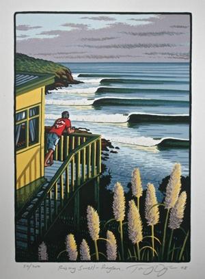 #tony ogle #kiwiana #surf art