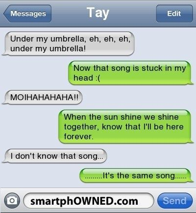 """@Jenn L Swinwood This would be me, singing in your car.  I only remember the stupid parts of songs - case in point """"The Bad Touch"""" by the Bloodhound Gang"""
