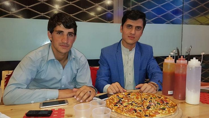 People in Tandoori Pizza Afghanistan