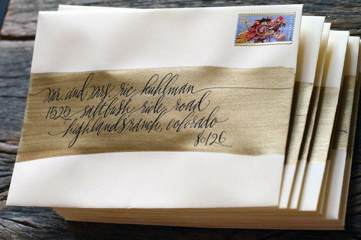 Paint Brush For Envelope Addressing