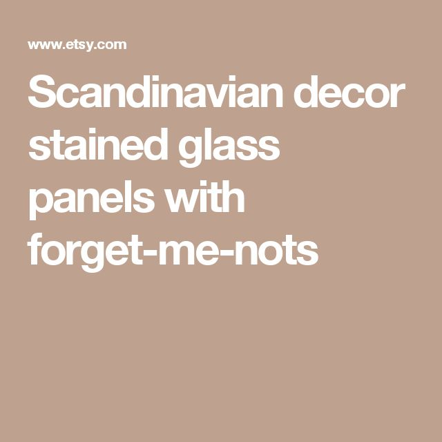 Scandinavian decor stained glass panels with forget-me-nots