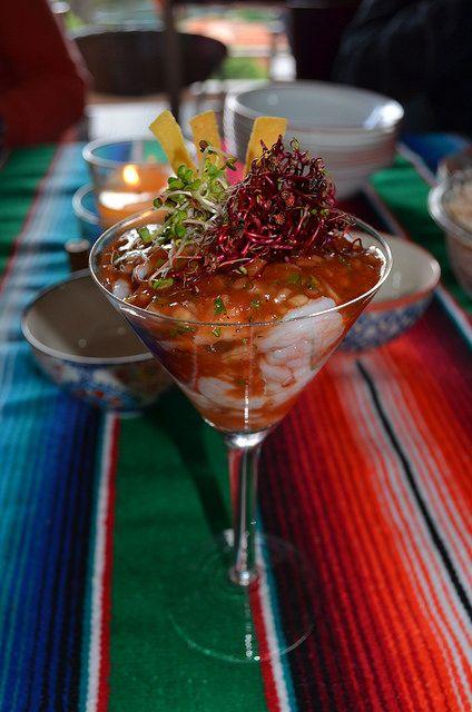 Ceviche de Camarones en Salsa Criolla @ La Comida de mi Casa by lgvanegas, via Flickr