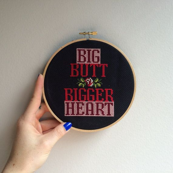 Big Butt Bigger Heart CROSS STITCH. от RichBitchCrossStitch